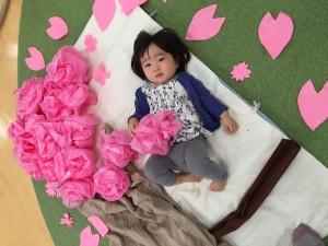お昼寝アート桜